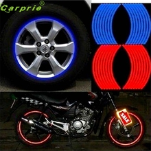 Dependable 18 Strips Motorcycle Car Wheel Stickers Reflective Rim Tape Ma18 dropshipping Sep6(China)