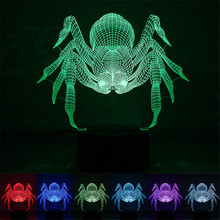 2017 new fation express it in the foreign trade hot style Factory spider a night light Smart home colorful LED lights USB power