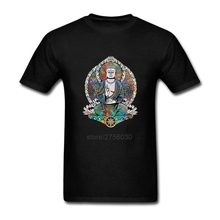 Short Sleeved Shirt O-Neck Men's T Shirts Cosmic Gautama Buddha Mens 3XL T Shirts Cheap Price Men T Shirt Printing
