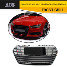 RS7 Styling ABS Racing Car Mesh Grill Grille for Audi A7 & S7 & RS7 Htachback 4-Door 2016-2017
