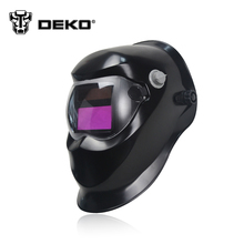 DEKOPRO Black Solar Auto Darkening Electric Welding Mask Helmet Welder Cap Welding Lens for Welding Machine