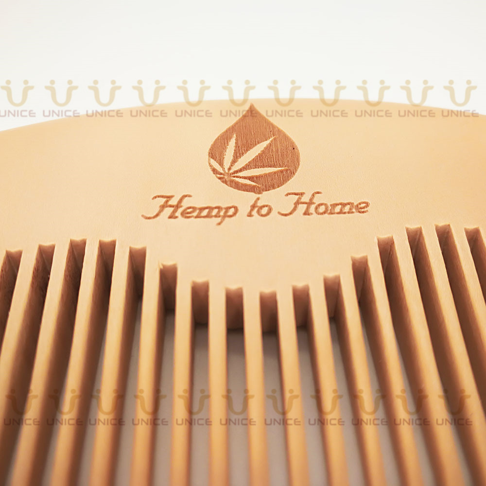 100pcs/lot Your LOGO Customized Private Label Combs Hair Beard Wood Comb for Men & Women for Barber Shop Retail Case 34