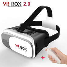 2016 Hot Brand VR BOX II 2 3D Glasses Version Virtual Reality Video Movie Game Glasses Headset + Bluetooth Remote Controller
