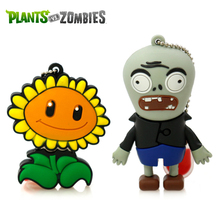 Amthin pendrive cartoon Plants VS Zombies 4G 8G 16G 32G sunflower USB2 usb flash drive memory Silicone Rubber Cute plant u disk