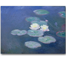 Monet Painting Famous Abstract Water Lilies Wall Painting Impressionist Oil Painting Wall Art Home Decor Printed Painting