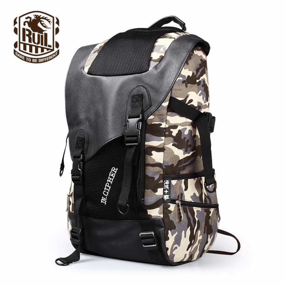 RUIL 2017 Canvas Backpack Mens Travel Schoolbag 14.1Inch Laptop Notebook BackPack Laptop Large Capacity Computer Bag school Bag<br>