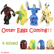 New Arrival HOT 4 PCS/lot Baymax Big Hero 6 Deformation eggs two unit in one Toy for kids christmas gift