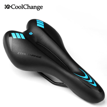 CoolChange Bicycle Saddle Cycling Mountain Road Bike Saddles GEL PVC Leather Bike Seat comfortable Thick Pad Bicycle Accessory(China)
