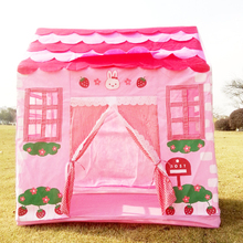 100*60*110CM Kids Tent Pink Princess Play Tent Play Game House for Children Outdoor Fun Beach Tent Toys