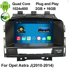 HD 1024*600 Pixel Quad-Core A9 1.6GHz Android 5.1.1 Stereo Car DVD GPS For Opel Astra J With 3G/4G WiFi OBD DVR