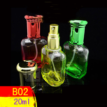 Capacity 20ml free shipping 100pcs/lot factory wholesale high quality p-005 glass perfume bottles with many colors to choose(China)