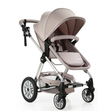 Baby stroller high-profile baby carriage can sit lumbar inflatable wheel baby baby trolley(China)