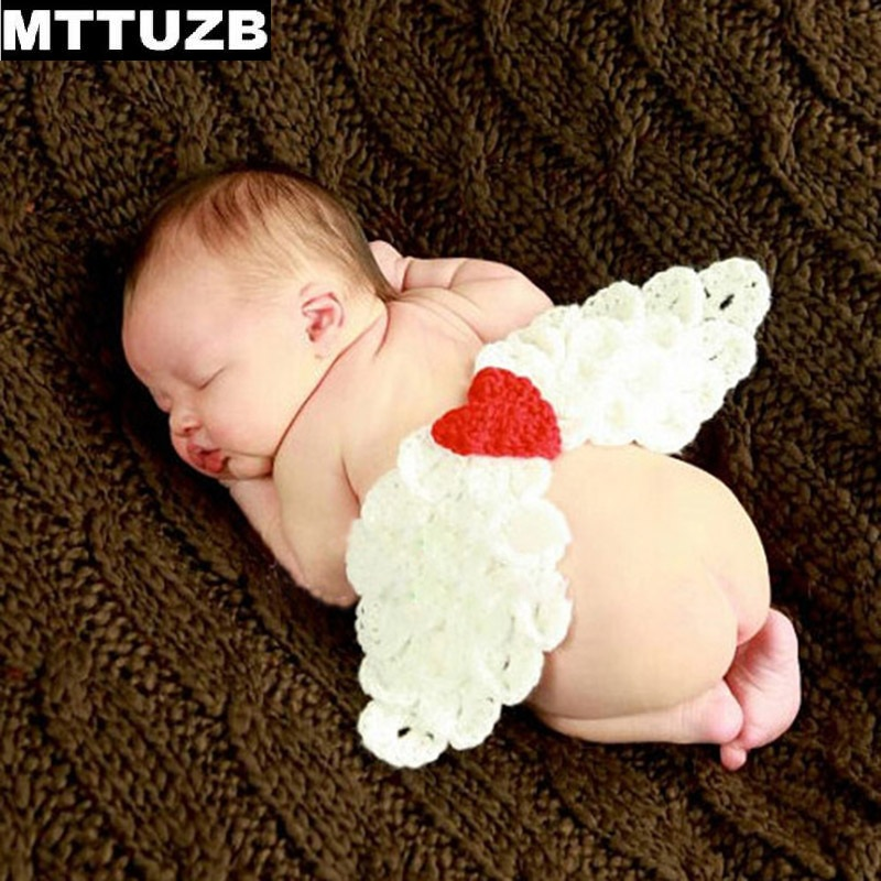 MTTUZB Fashion baby girls boys Angel wings Photography Props newborn Crochet costume infant photo props accessoriesÎäåæäà è àêñåññóàðû<br><br><br>Aliexpress
