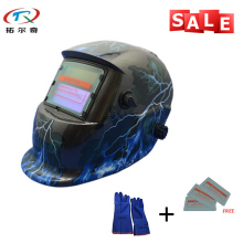2017 New Design Solar Welder Mask Electronic Custom Auto Darkening Welding Mask Welding Helmet TRQ-HD41-2233FF-BG(China)
