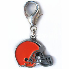 Fashion High Quality Alloy Material Hot Sale Enamel Finished Cleveland Browns Logo Charm