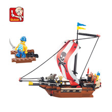 226 pieces baby boy blocks plastic Model Building Kits pirate ship bricks toys boy style building Army toys N0279(China)
