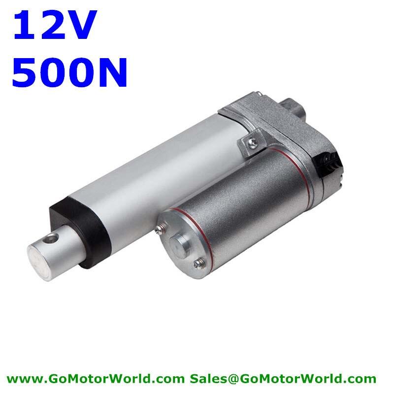 waterproof 12V 100mm 4inch stroke 500N  load 6mm/s speed heavy duty linear actuator free shipping<br>