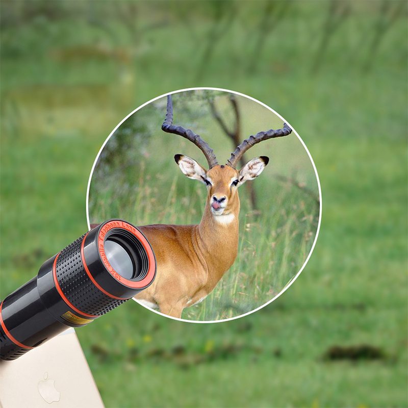 17 12X Zoom Phone lens Universal Telephoto Camera Lens with tripod holder for iPhone Samsung Xiaomi HTC HUAWEI lens APL-HS12X 6
