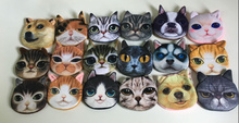 NEW Popular 18Animals , Kitty Cat with Dogs Plush Coin Purse , Gift 10CM Coin BAG Purse , Pocket Coin Wallet BAG , monedero gato(China)