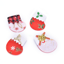 JETTING 1PCS Merry Xmas Gift Bags Ornaments Christmas Red Linen Knife And Fork Sets Christmas Tree Pendant Stocking Socks