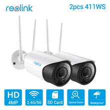 Buy Reolink WiFi IP Camera 2.4G/5G 4MP Autofocus HD 4x Optical Zoom Wireless Cam w SD Card Storage RLC-411WS (2 cam pack) for $226.05 in AliExpress store