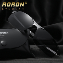 AORON Men's Brand Polarized Sunglasses Women Classic Design Glasses glass de sol Feminino Cool Accessories Night Vision Goggles(China)