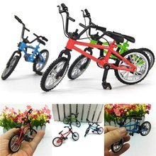 YLHTOYS Baby Toys Small Bike Alloy Plastic Scale Model Miniature Diecast Bicycle Craft Desktop Display Home Decoration Kid Toy(China)