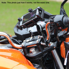 Professional Motorcycle Large Screen Phone/GPS Navigator Holder Shock Resistant Motorbike/Bike/Scooter/ATV Stand Mount Bracket