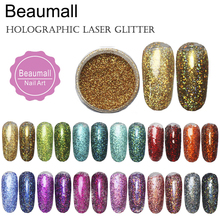 2.5g/pot,0.2mm (1/128 008) Holographic Laser Glitters Powders Dusts Chrome Pigments For Nail , Tatto Art Decorations.(China)