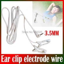 Tens ems Massage Ear clip electrode connecting lead 3.5mm wire for Sleep insomnia acupuncture therapy machine slimming massager