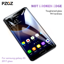 Buy Pzoz samsung galaxy a5 2017 glass tempered full cover prime screen protector 3D galaxy a5 glass phone a5 2017 coque film for $3.74 in AliExpress store