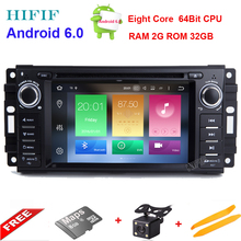 HIFIF Android 6.0 car dvd player for Jeep Dodge Chrysler Series gps navi with radio BT RDS mirror link RDS Camera support DAB+(China)