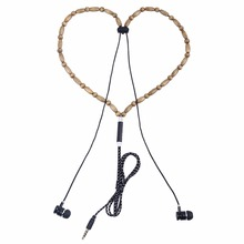 TYAYA New Earphones Beads Necklace Chain In-Ear Wooden Fashion Diamond Earphone with Microphone Stereo for Phone(China)