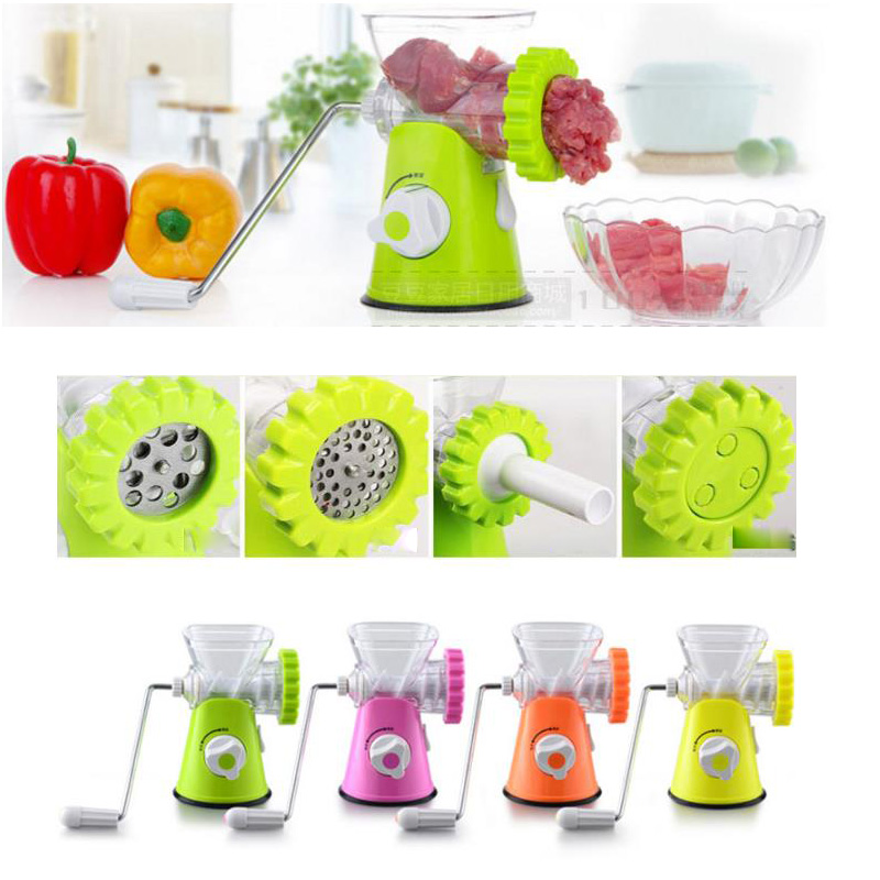 Household Meat Grinder Vegetable Slicer High-quality Multifunctional Household ABS Shell Stainless Meat Mincer Meat Cutter <br><br>Aliexpress