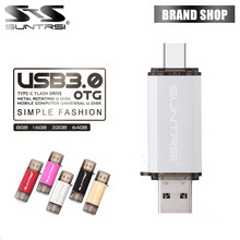 Suntrsi TYPE-C USB Flash Drive OTG 3.0 Pendrive High Speed 64GB Pen Metal 16GB Usb Stick Smart Phones - Official Store store