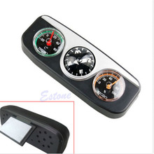 3in1 Guide Ball Car Boat Vehicles Auto Navigation Compass Thermometer Hygrometer Hot