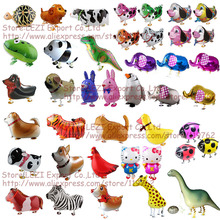 Free Shipping walking pet animal Foil balloon Birthday Party Decoration Balloons children's toys hot sale Russia United States(China)