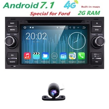 Black Top Car Styling Quad Core 16G 6.2'' Android 7.1 Car DVD Player for Ford focus old/for mondeo GPS Navigation 2G RAM 4G WIFI