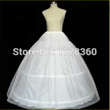 High Quality Tulle 3 Hoop Wedding Bridal Petticoat ball gown 2017 Underskirt Crinolines for Wedding Accessories L1105