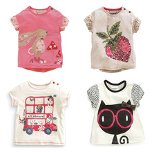 New 2017 Quality 100% Cotton Baby Girls t shirt Short Sleeve Kids Clothes Brand Summer Tee T-Shirt Baby Girls Clothing Outerwear