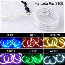 4Pcs Car 6-Color Optional Headlight CCFL Angel Eyes Halo Rings Kits For Lada Vaz2114 #FD-1268