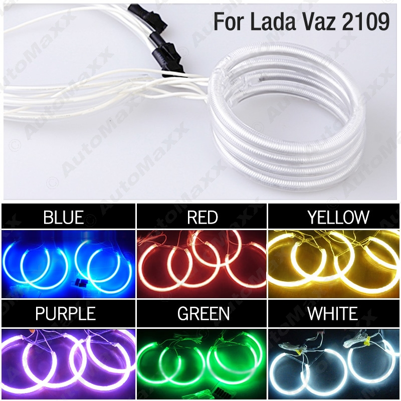 4Pcs Car 6-Color Optional Headlight CCFL Angel Eyes Halo Rings Kits For Lada Vaz2114 #FD-1268<br><br>Aliexpress