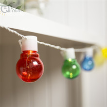 Novelty 20 Colorful Globe Connectable Festoon Party Ball string lamps led Christmas Lights fairy wedding garden Holiday garland(China)