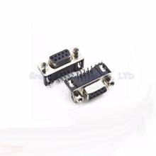 DR9 male plug DR9 female socket  RS232 9-pin serial port plug 90 degree bend