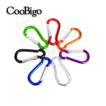5pcs Pack Colorful Aluminum Spring Carabiner Snap Hook Hanger Keychain Hike Camping Backpack Kits Size#4 #6 #8 #10 Pick #FLQ186