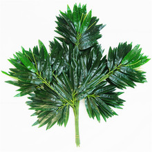67CM Artificial Bamboo Leaf Plastic Branches Salon Decoration Photographic Green Decoration 48PCS Leaves(China)