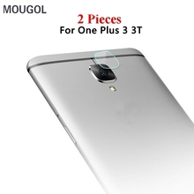 MOUGOL 2PCS For Oneplus 3t 3 Tempered Glass Camera Lens Protector Back Film Rear Protective Sticker Phone Cover For One plus3 3t