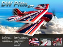 RC Plane EPP Airplane Model Pitts 850mm Wingspan