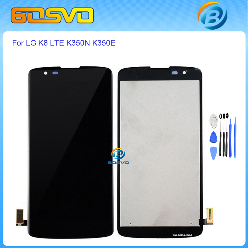 High quality Replacement full screen for LG K8 LTE K350N K350E lcd display with touch screen digitizer assembly black with tools<br><br>Aliexpress
