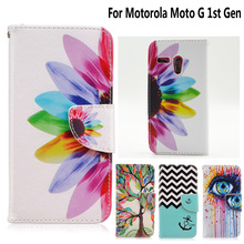 Stand Case for fundas Motorola Moto G Cover Case for coque Motorola Moto G 1st Gen Case XT1028 XT1031 XT1032 XT1033 +Card Holder